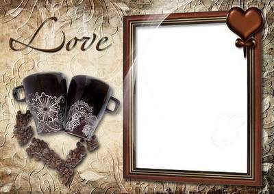 Romantic Photoframe - Date with Cup Of Coffee