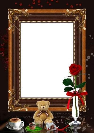 Frame photo Coffee, chili, chocolate ( free frame png, free download)