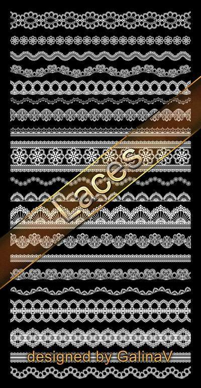 Laces for design PSD, PNG (Part 1)
