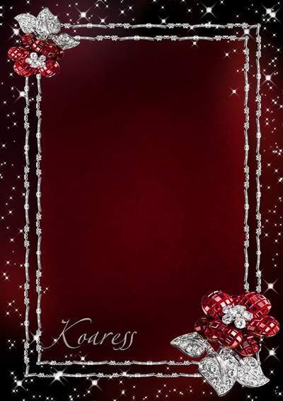 Photo frames - Flowers of rubies and the star shine