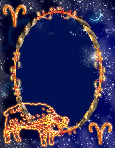 Frame for photoshop - Zodiac signs. Aries