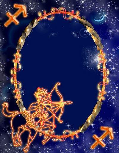 Frame for photoshop - Zodiac signs. Strelets