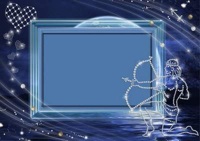 Frame for photoshop - Crystal zodiac signs. The Sagittarius