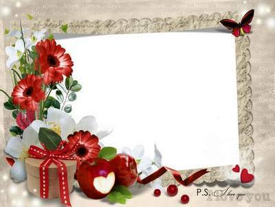 Romantic frame for photo - Love, because the feeling is not easy
