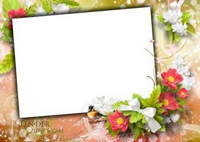 Frame with flowers for girls or couples in love - these wonderful moments