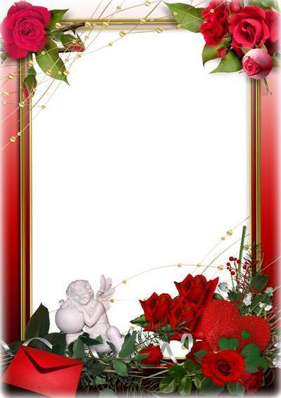Romantic frame for lovers trace holidays - romantic love