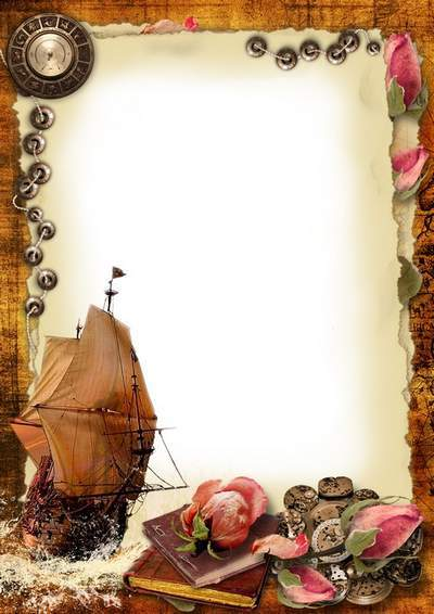 Romantic frame for Photoshop - Sails of forgotten ships