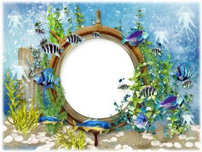 Marine photo frame - Underwater world beckons to itself