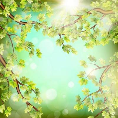 Layered psd background (green color) - the leaves on the trees,  7677x7677 px