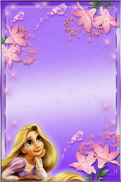 Photoframe for girls - Rapunzel free download