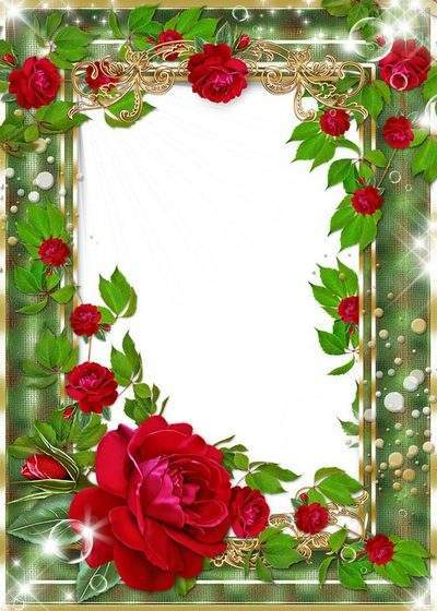 2 Frames with roses - Amongst herb to flowerses