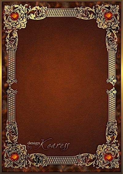 Gold photo frame with topaz - Luxury portrait