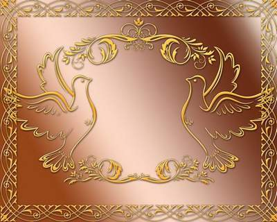 Frames for Photoshop - Gold luxury