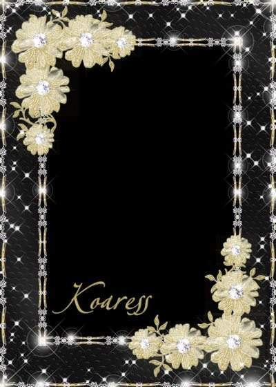 Photo frame - The flowers of gold brocade