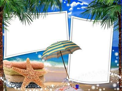 Maritime Frame for Photoshop - Sun, sea and sand