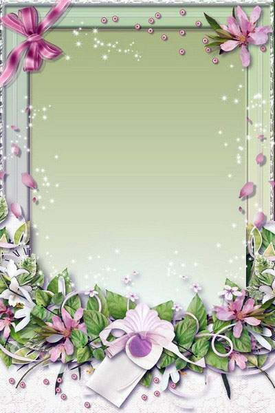 Flowery Photoframe - As a Fantastic Fairy