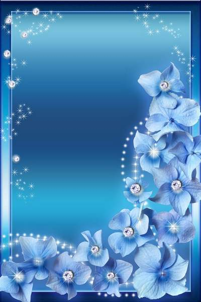 Woman's Photoframe - Blue Glamour