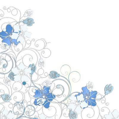 Photoframe - Blue Flowers