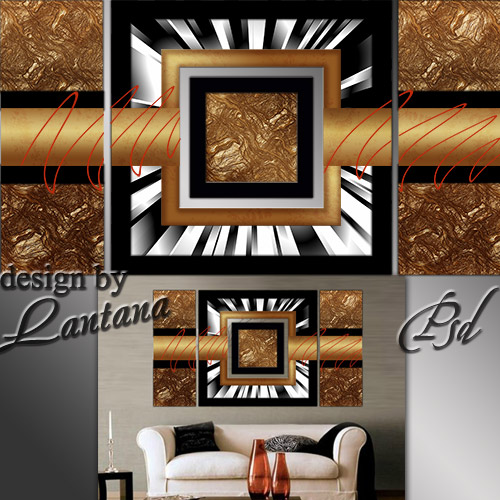 Polyptych in PSD - I love the bronze, gold, copper