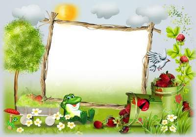 Children frame for photo - Summer Berry, a wonderful time