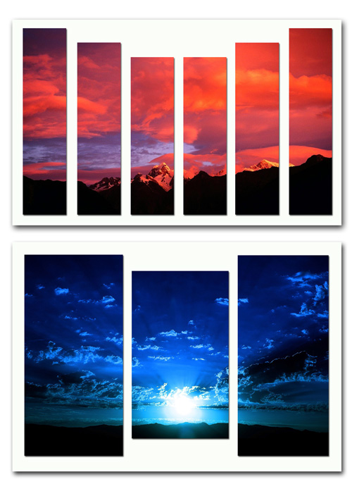 Diptychs, triptychs and polyptych - The sky, the clouds, the clouds, the air spaces