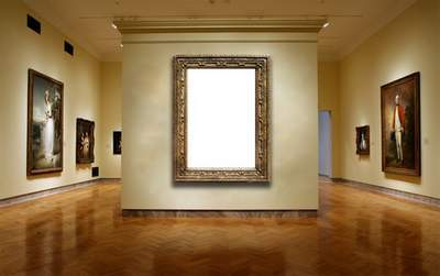 Frame for a photoshop - a picture in a museum