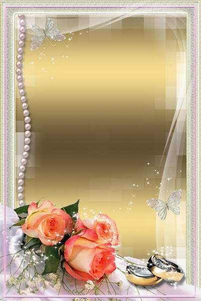 Frames for Photo - Wedding Roses (2)