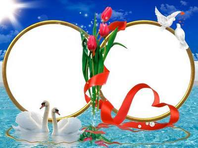 Wedding frame for photoshop - The great power of love