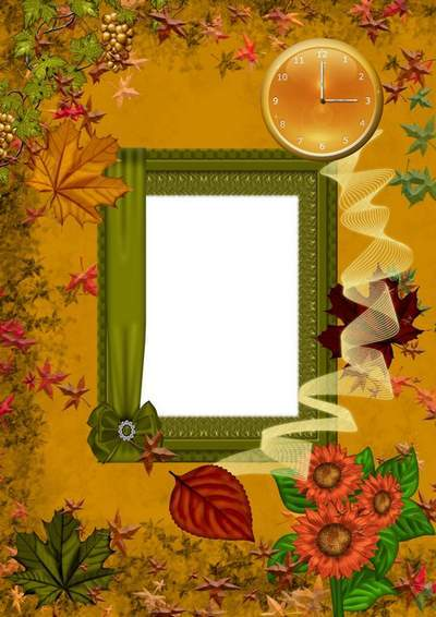 Frame for photo - autumn psd download