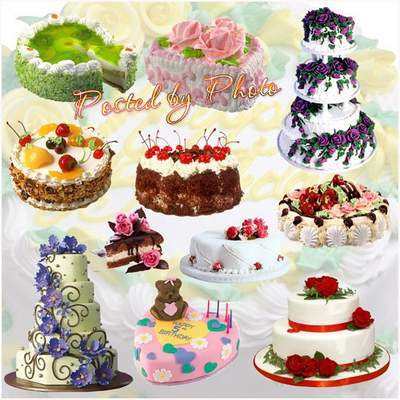 Clipart PNG Images - 90 PNG files Cakes and Pies on a transparent background