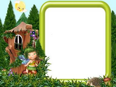Free Children photo frame template - In a country of dense grasses,layered PSD file download