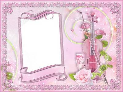 Pink photo frame psd template, romantic style