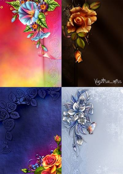Bright floral backgrounds 2
