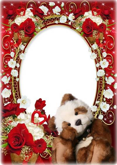 Romantic floral frame for couples in love - We are happy together
