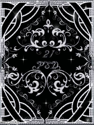 Clipart in PSD - silver decorative patterns ornaments free download