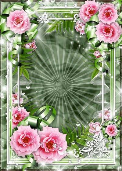2 Frames for photo with roses - She so tenderly pink