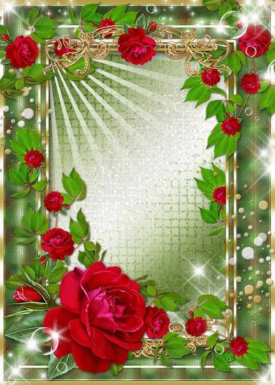 2 Frames for photo - Roses - flowerses of happiness