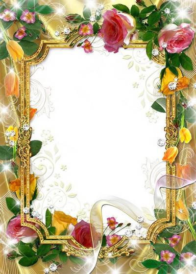Frames for photo - a Gold and Gentile nosegays