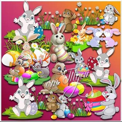 Clipart for Easter - To us Easter light has come!