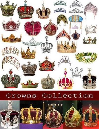 Collection crowns 7CDR + JPG + PNG + PSD files