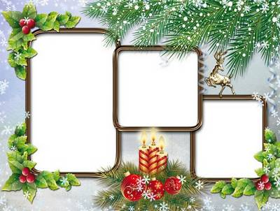 Photo frames for the three cut - Christmas mood