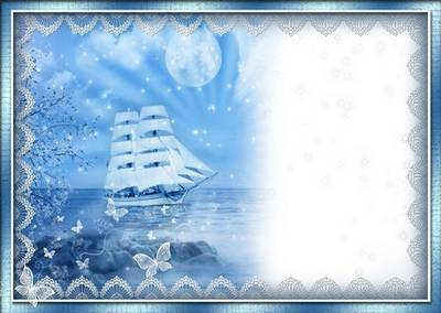 Romantic frame for a photo - White Sails