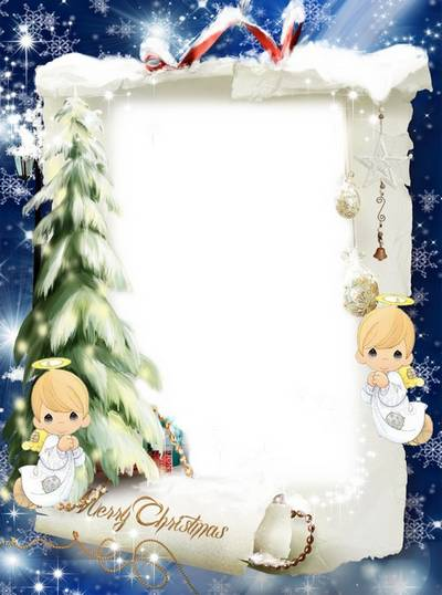 PNG Frame + PSD frame for photoshop - Shining star marvelous