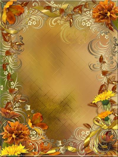 Frame - Autumn, the golden autumn whirled me and threw leaves