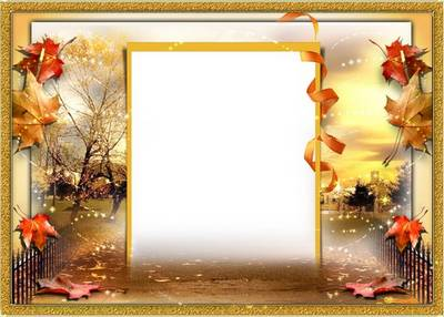 Autumn Photo Frame for photoshop - Autumn waltz