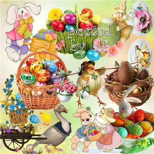 Easter clipart PNG images – 36 PNG files, 300 dpi, download