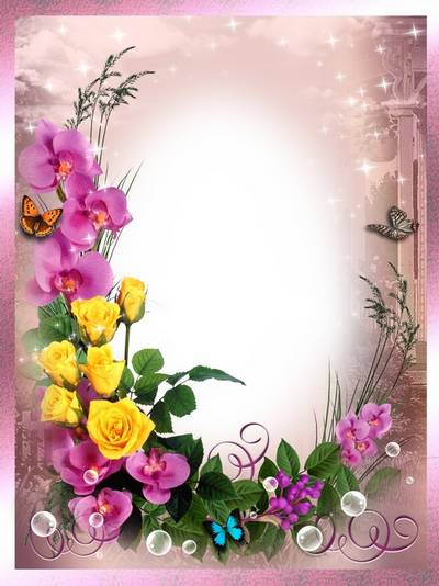 Frames for photoshop - In the world of flowers