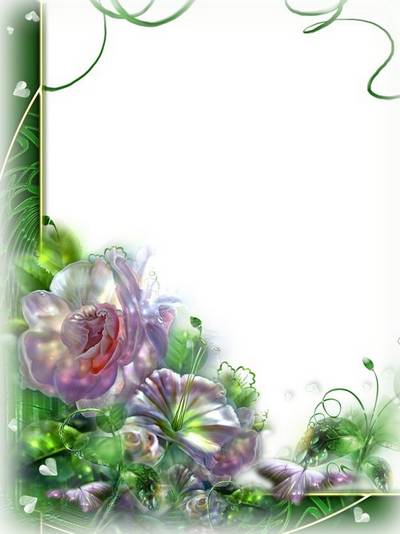 Photo frame - The bouquet of flowers reflects the sky