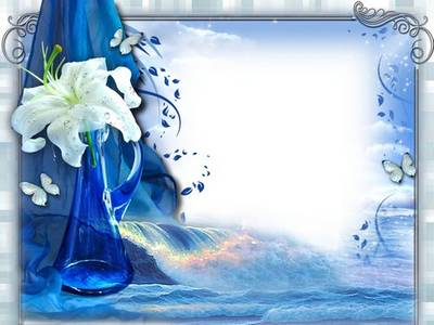 Frame for photoshop - White Lily