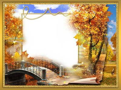 Photo frame - Autumn covered roads gold